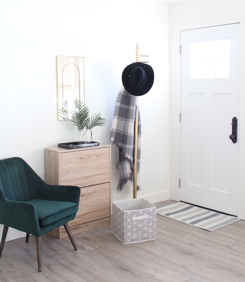 Entryway Organization Tips Before and After