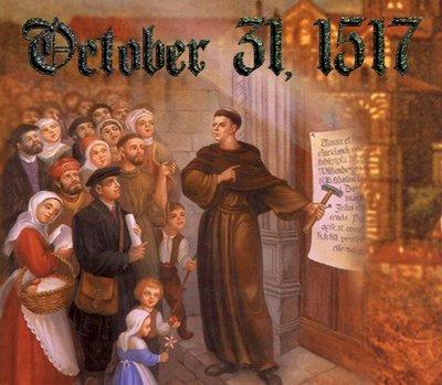 El 31 de octubre de 1517, Martín Lutero clava sus 95 tesis en la puerta de la Iglesia de Wittenberg
