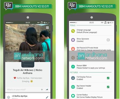 BBM MOD Hangeouts V2.12.0.11 Apk Terbaru