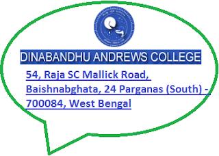 Dinabandhu Andrews College, 54, Raja SC Mallick Road, Baishnabghata, 24 Parganas (South) - 700084, West Bengal