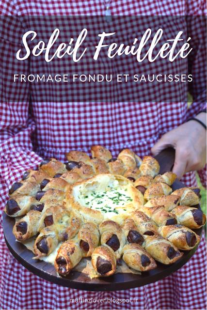 Recette facile soleil feuilleté camembert fondu et saucisses - muffinzlover.blogspot.fr