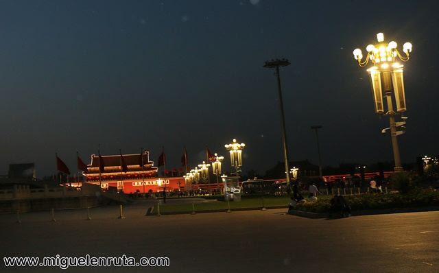 Tiananmen-noche