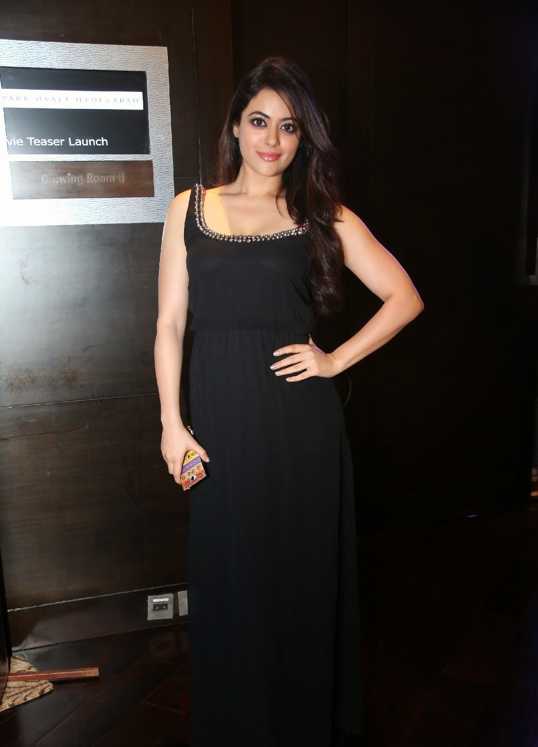Shruti Sodhi Sexy Pictures In a Black Low Neck Top