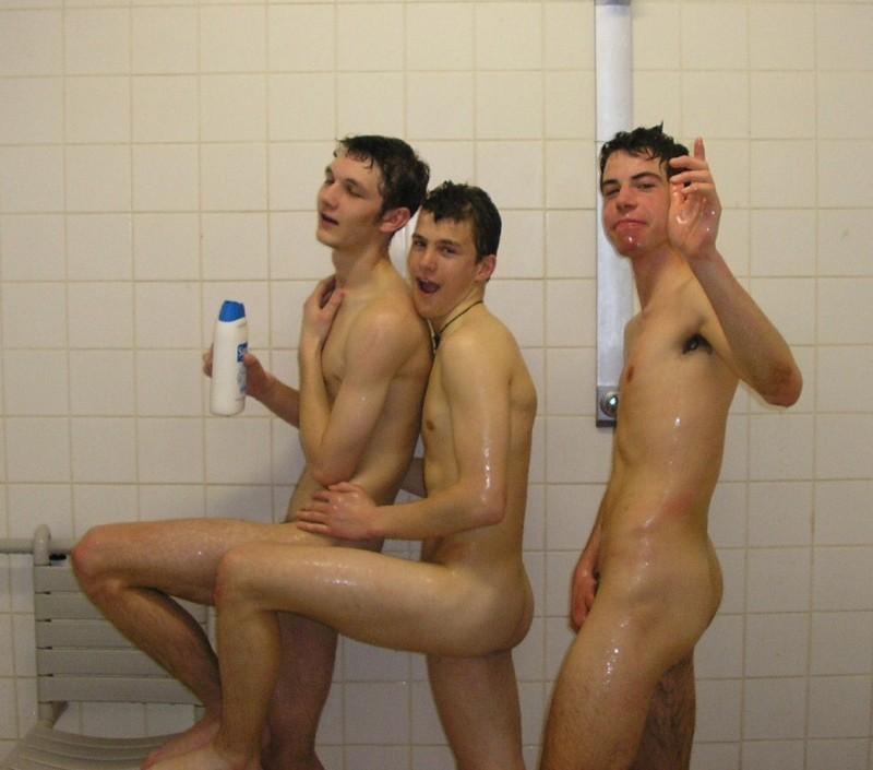 Naked locker room boys