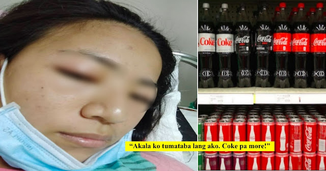 Girl bloats After drinking COKE/Facebook