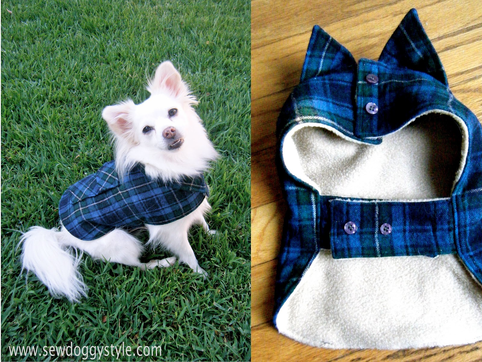 bee575887 Sew DoggyStyle: DIY Pet Coat Pattern - Sewing it Together!