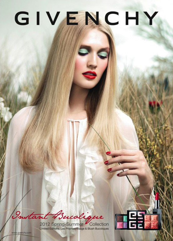 Givenchy Beauty Spring 2012 Campaign featuring Toni Garrn