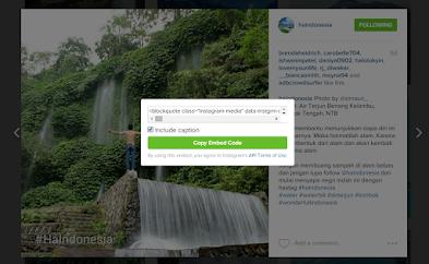 Cara Menautkan Foto Instagram Kedalam Postingan Blog