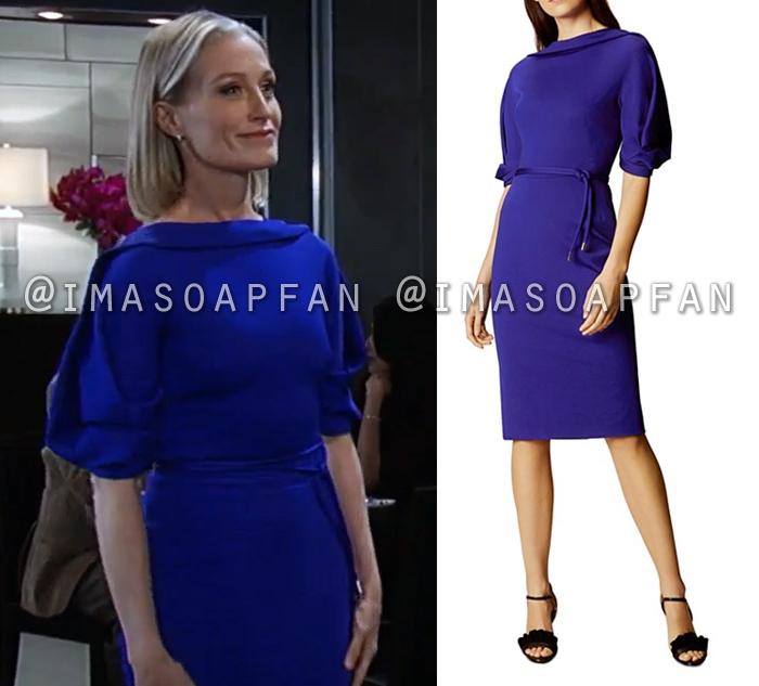 Cassandra Pierce, Jessica Tuck, Royal Blue Dress, General Hospital, GH