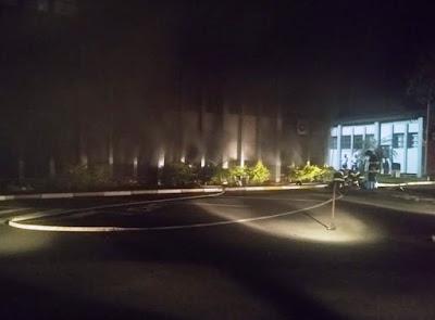 Incêndio no Quartel da Policia Militar em Registro-SP