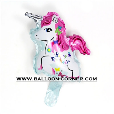 Balon Foil HAPPY BIRTHDAY Unicorn Mini