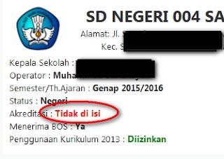 akreditasi tidak diisi