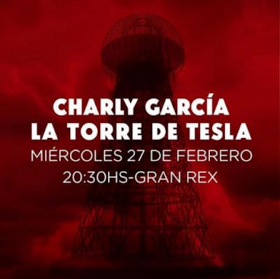 Charly regresa al Gran Rex el 27 de Febrero.