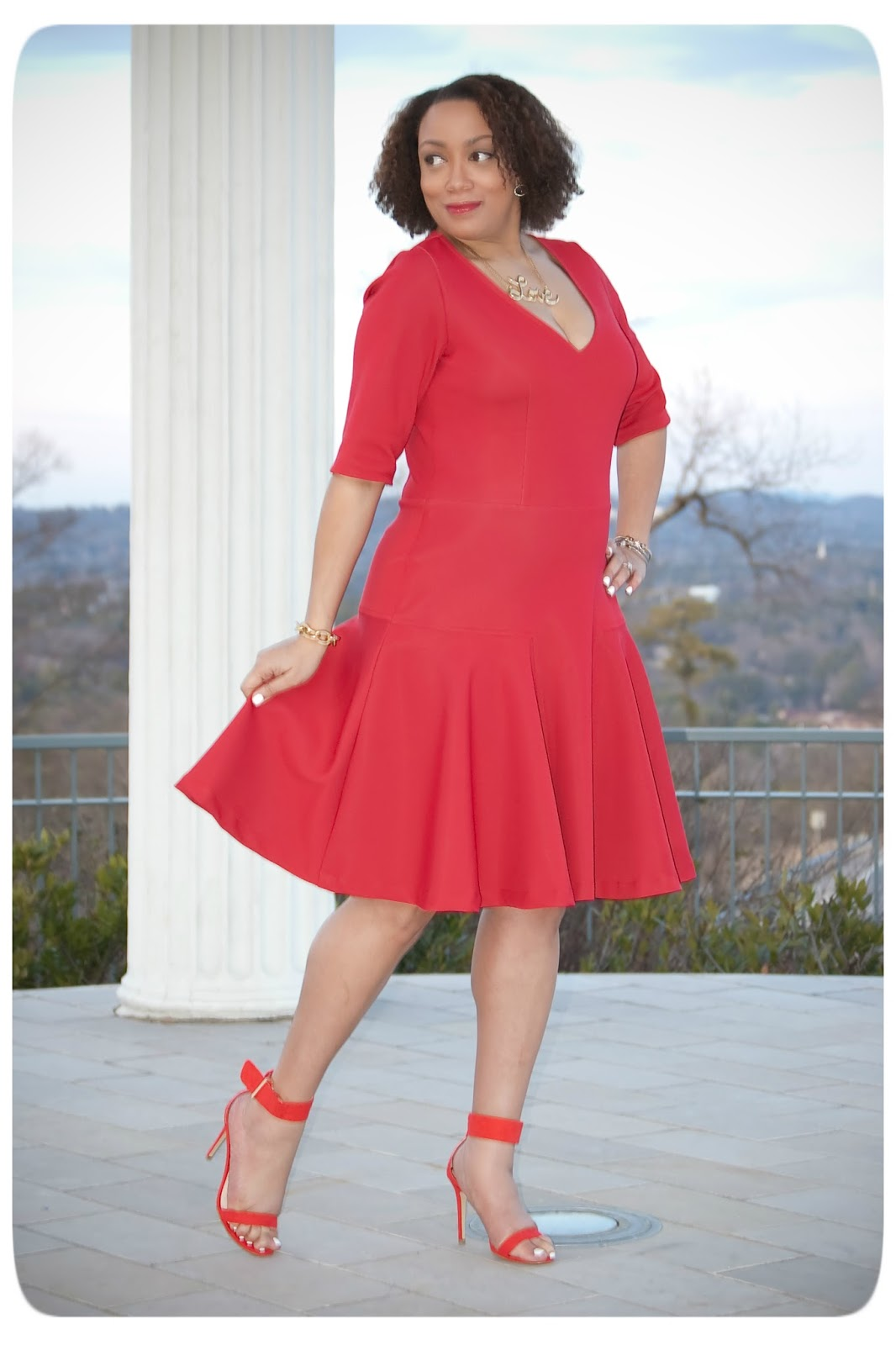 DIY Red Neoprene Dress