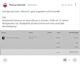 Bestellinfo - Nexus 5