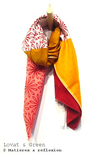 Foulard coloré orange rouge Lovat & Green