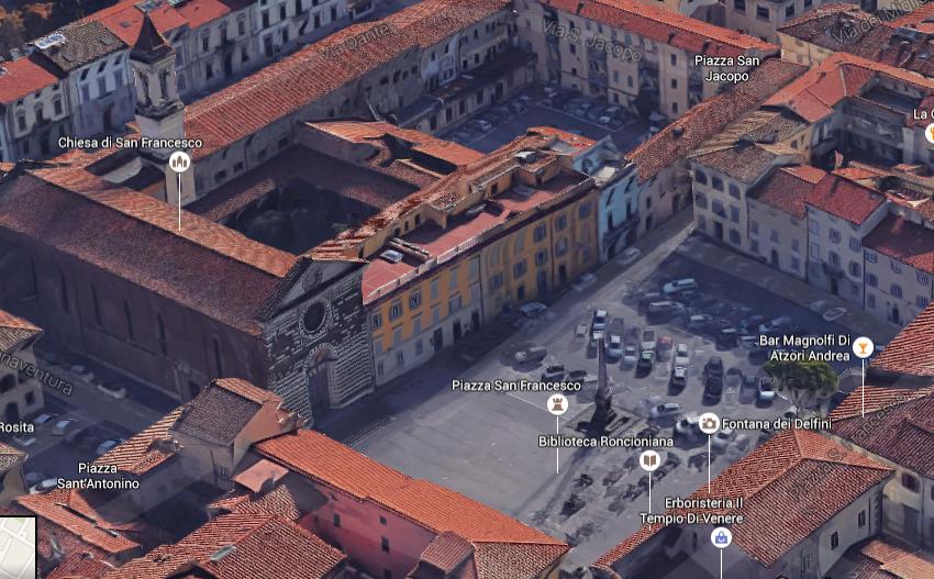 Welcome 2 prato soggiorna a prato in toscana piazza san for Piazza san francesco prato