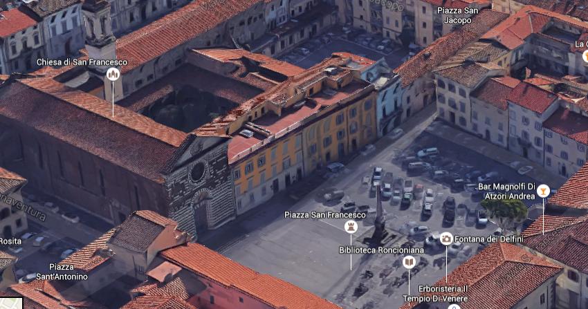 Piazza san francesco a prato il quadrilatero for Piazza san francesco prato