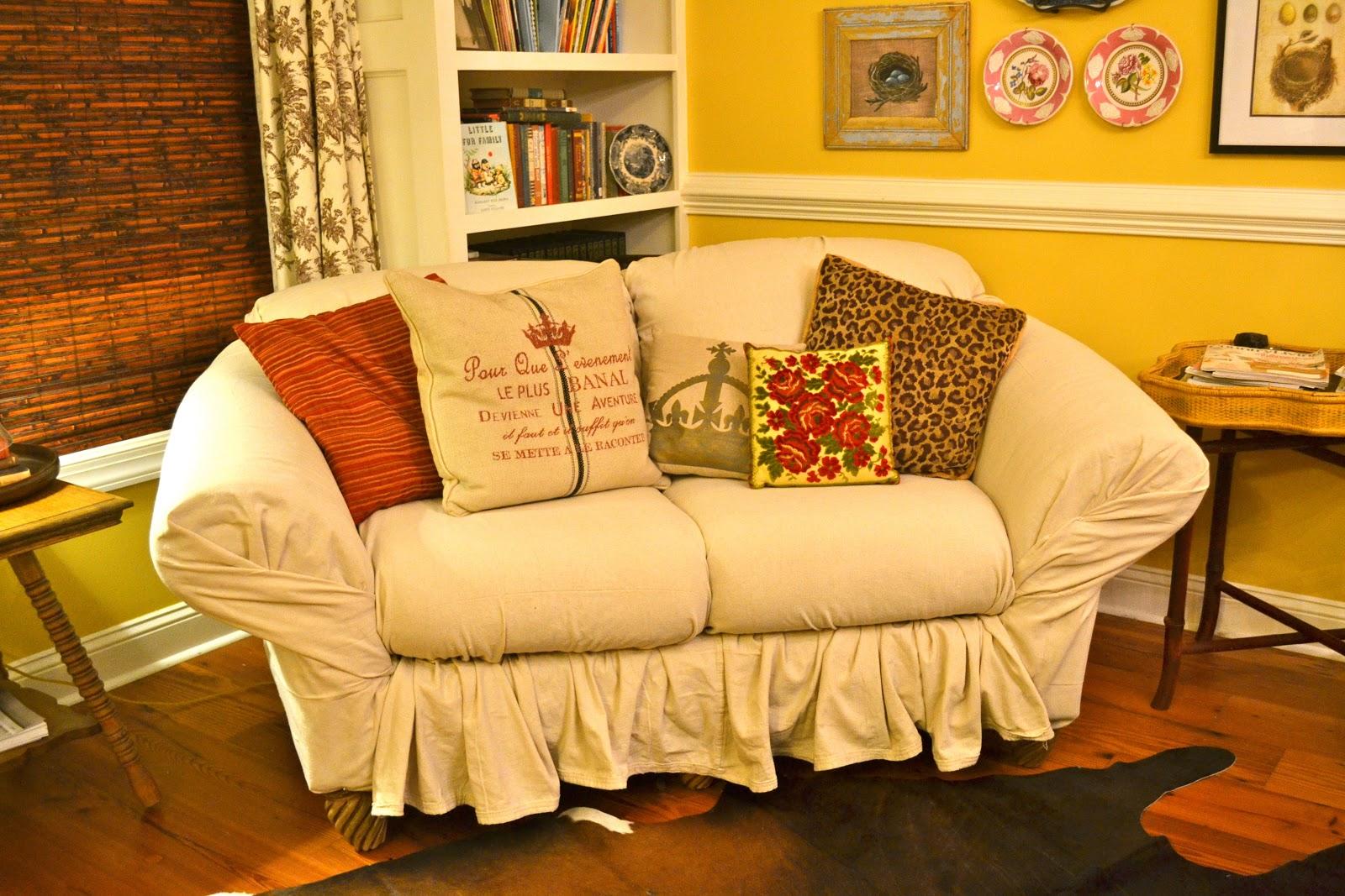 Diy Chair Slipcover No Sew Italian Dining Chairs Singapore Ediblecreativity Tuck Pin Done Loveseat