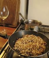 Risotto bouillon (stock)