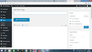 add new page in wordpress