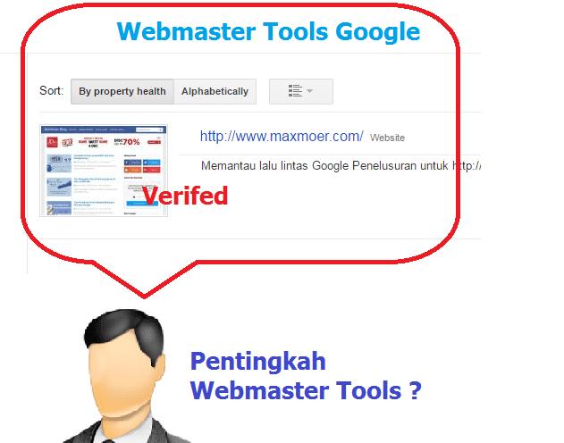 Pentingnya Webmaster Tools dan Cara daftarnya