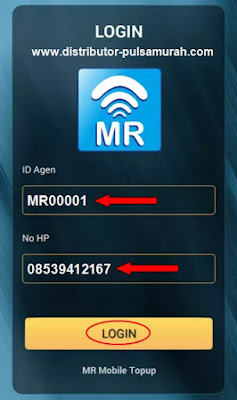 Cara Login Aplikasi Android MR Mobile Topup Metro Reload