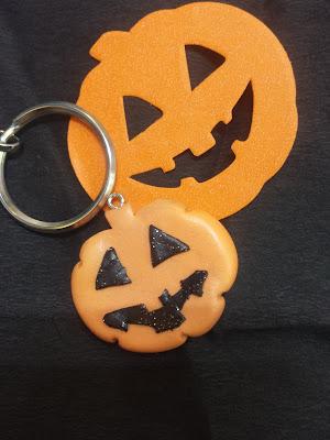 zucca halloween fimo portachiavi