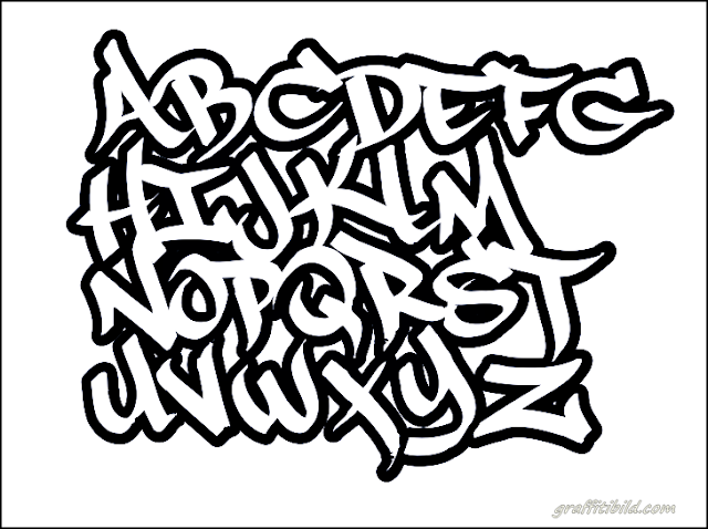 graffiti schrift abc, graffiti letters, alphabet, font