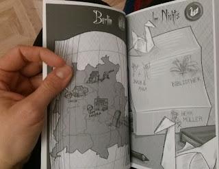 Illustration im Buch, Anna und Jakob in Berlin und im Nichts