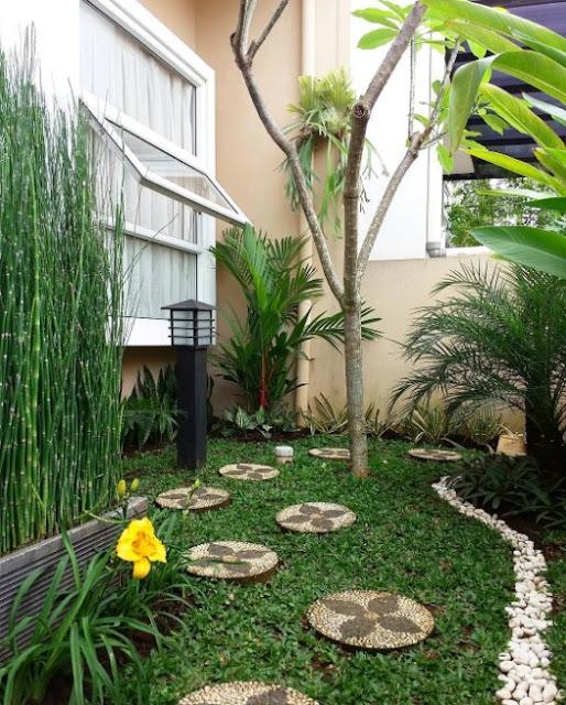 desain taman depan rumah minimalis lahan sempit