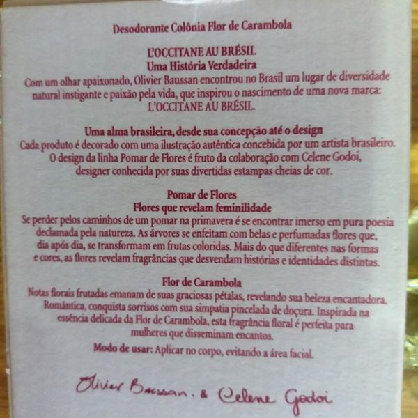 Descrição do Perfume da L'Occitane Au Brésil: Flor de carambola