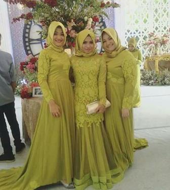 Model Kebaya Brokat Muslim Untuk Kondangan Resepsi Pernikahan