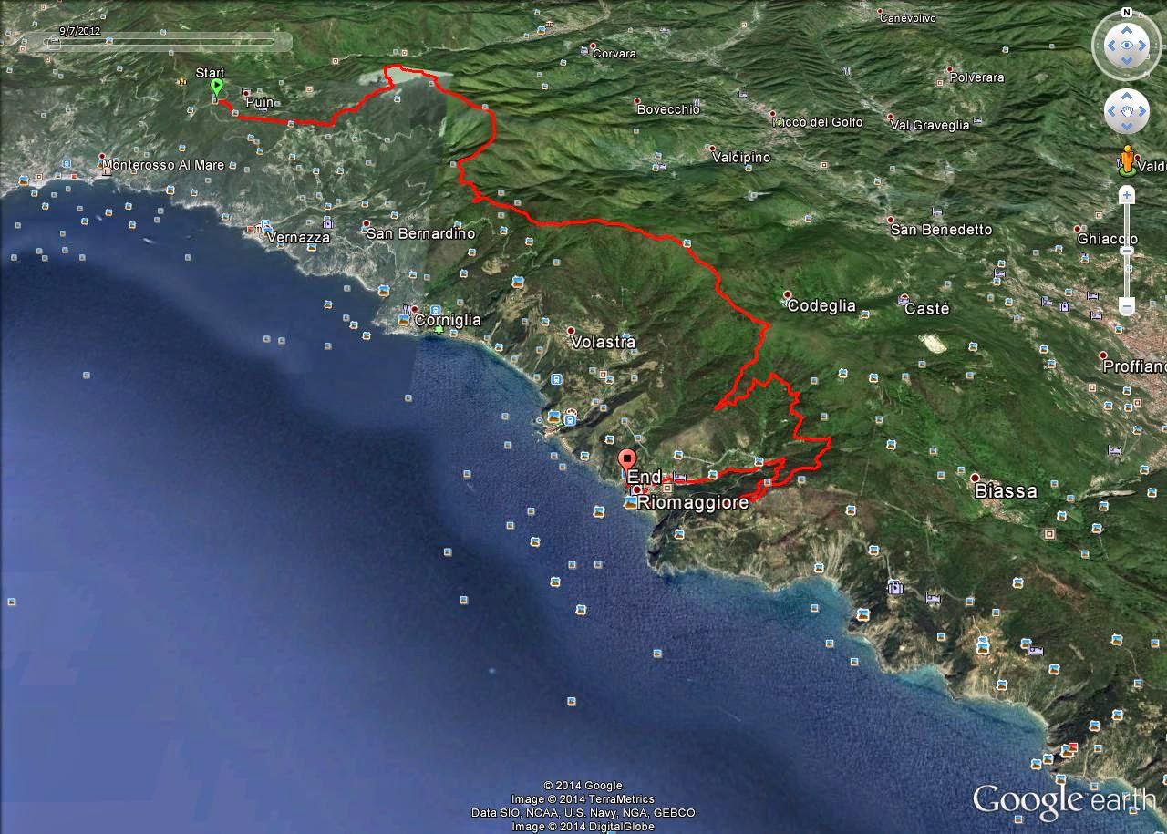 Cartina 5 Terre E Dintorni.Levanto E Dintorni Alta Via Delle Cinque Terre In Mountain Bike
