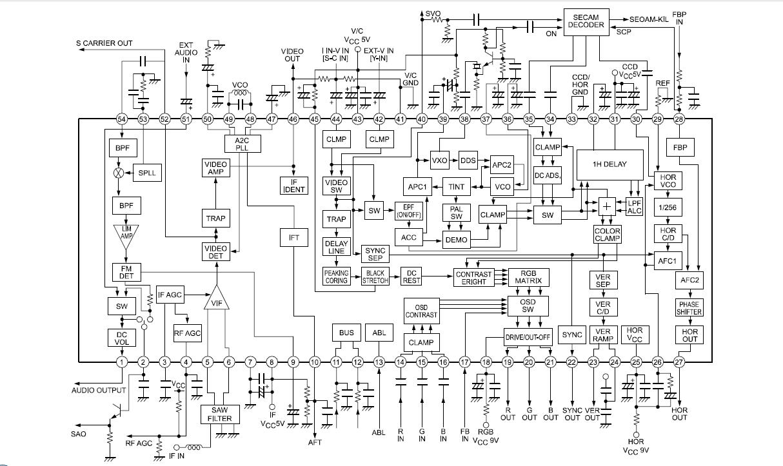 polytron tv circuit diagram