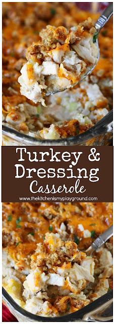 Turkey & Dressing Casserole collage image