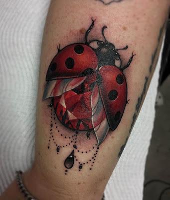 Arms Traditional Ladybug Tattoo
