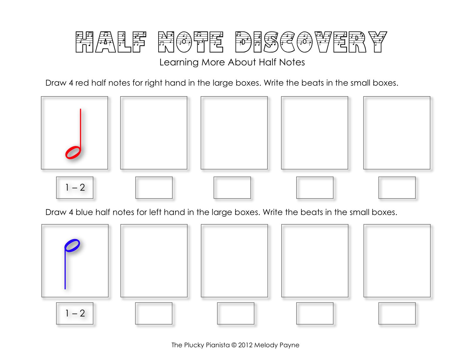half note and quarter rest discovery sheets. Black Bedroom Furniture Sets. Home Design Ideas