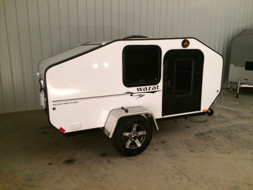 Aluminum Teardrop Trailers : Tiny yellow teardrop featured micro lite trailers