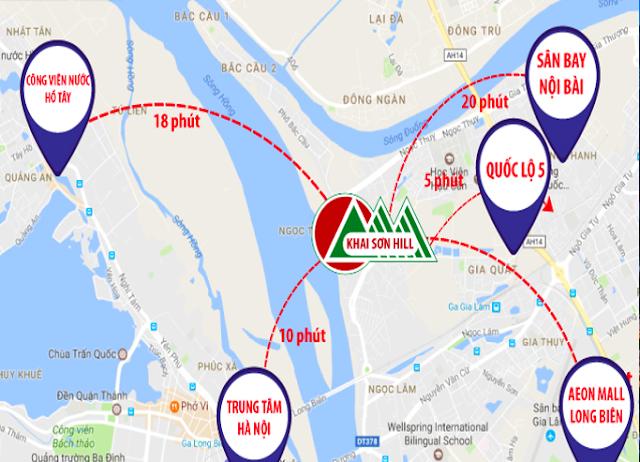 Vị trí liên kết vùng Khai Sơn City