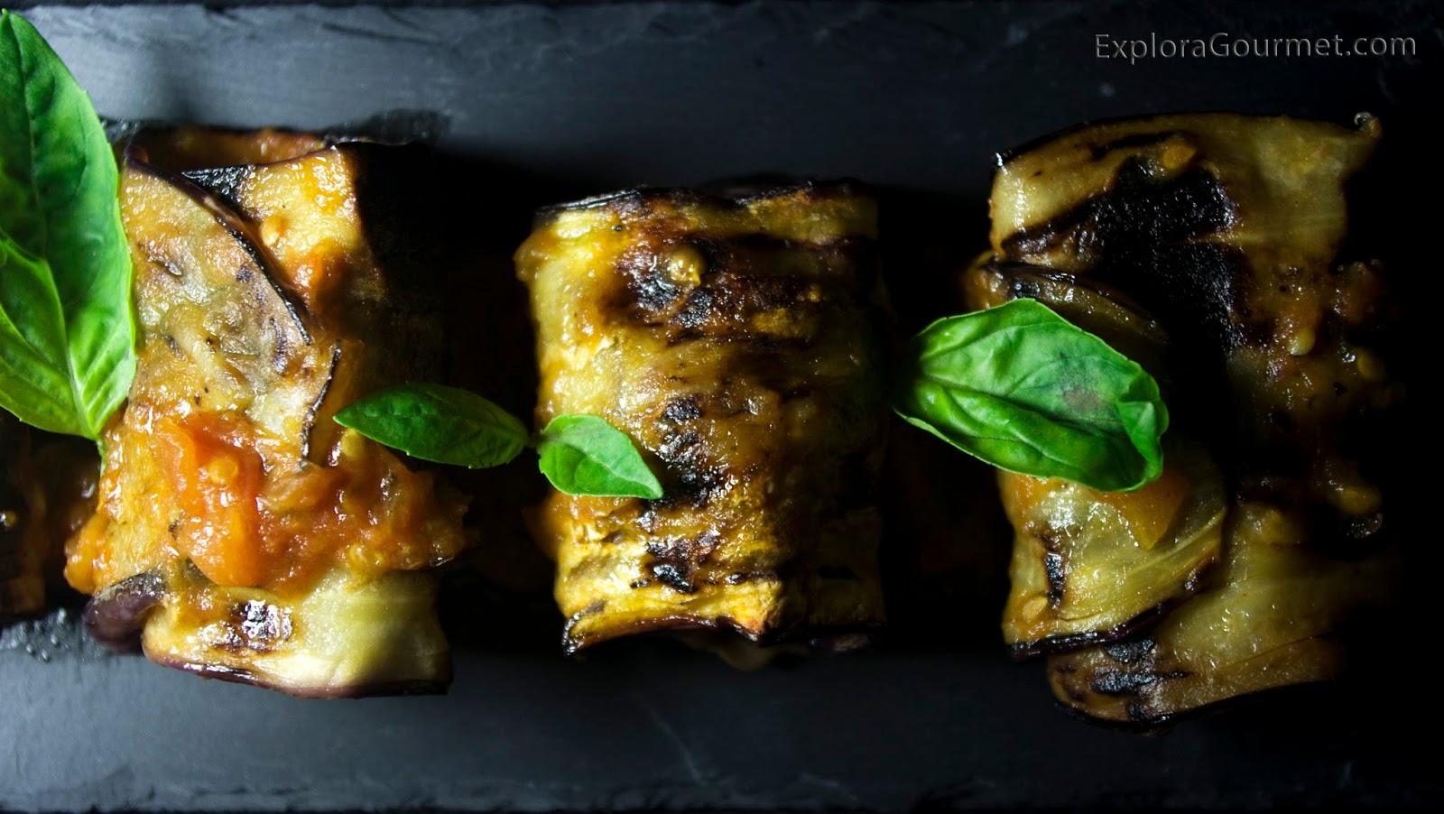 Rollitos de berenjena rellenos de carne