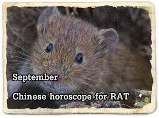 September 2016 Chinese horoscope for RAT