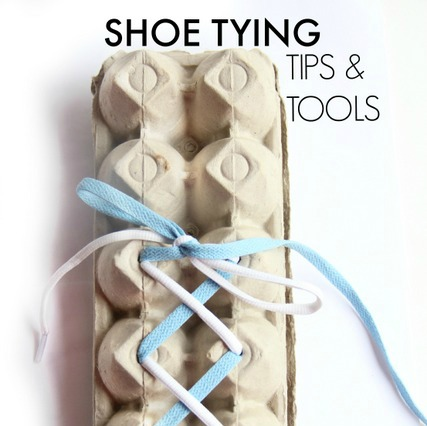 Teach kids to tie their shoes the fun way egg carton craft