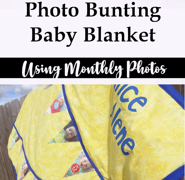 How to make a keepsake photo blanket with monthly baby photos