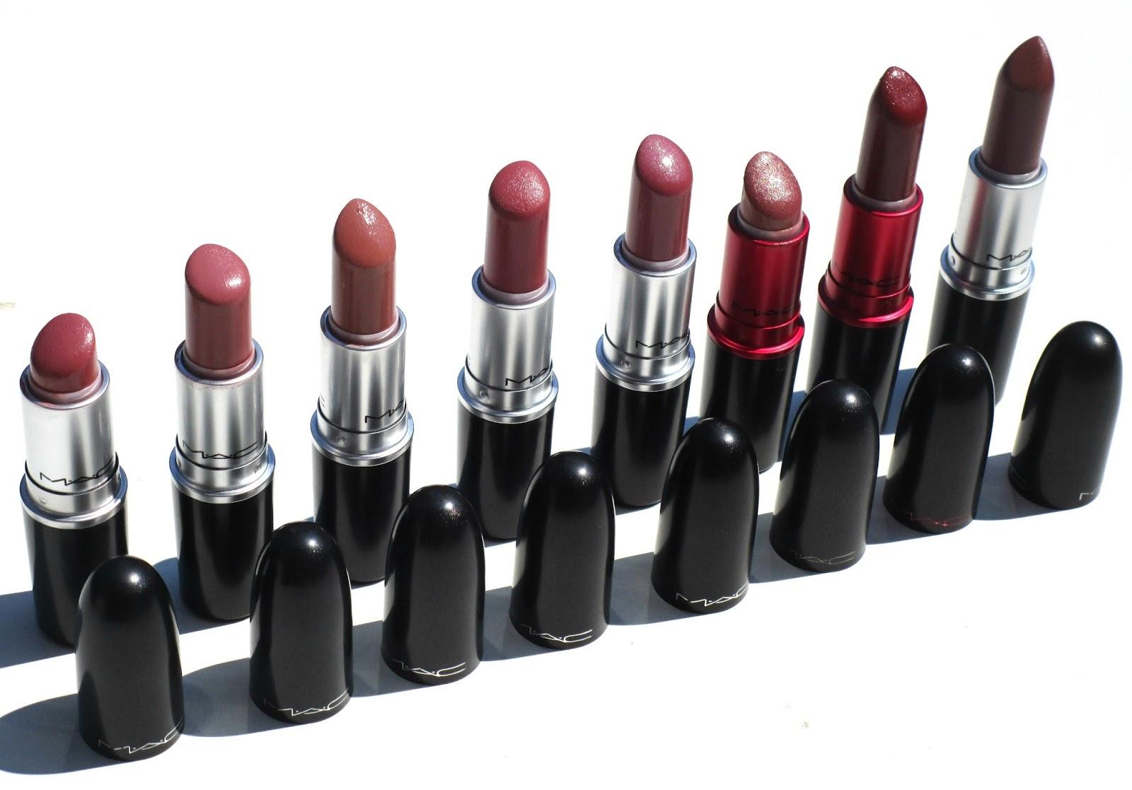 My MAC Lipstick Collection So Far.
