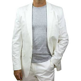 White Cotton Suit Jacket