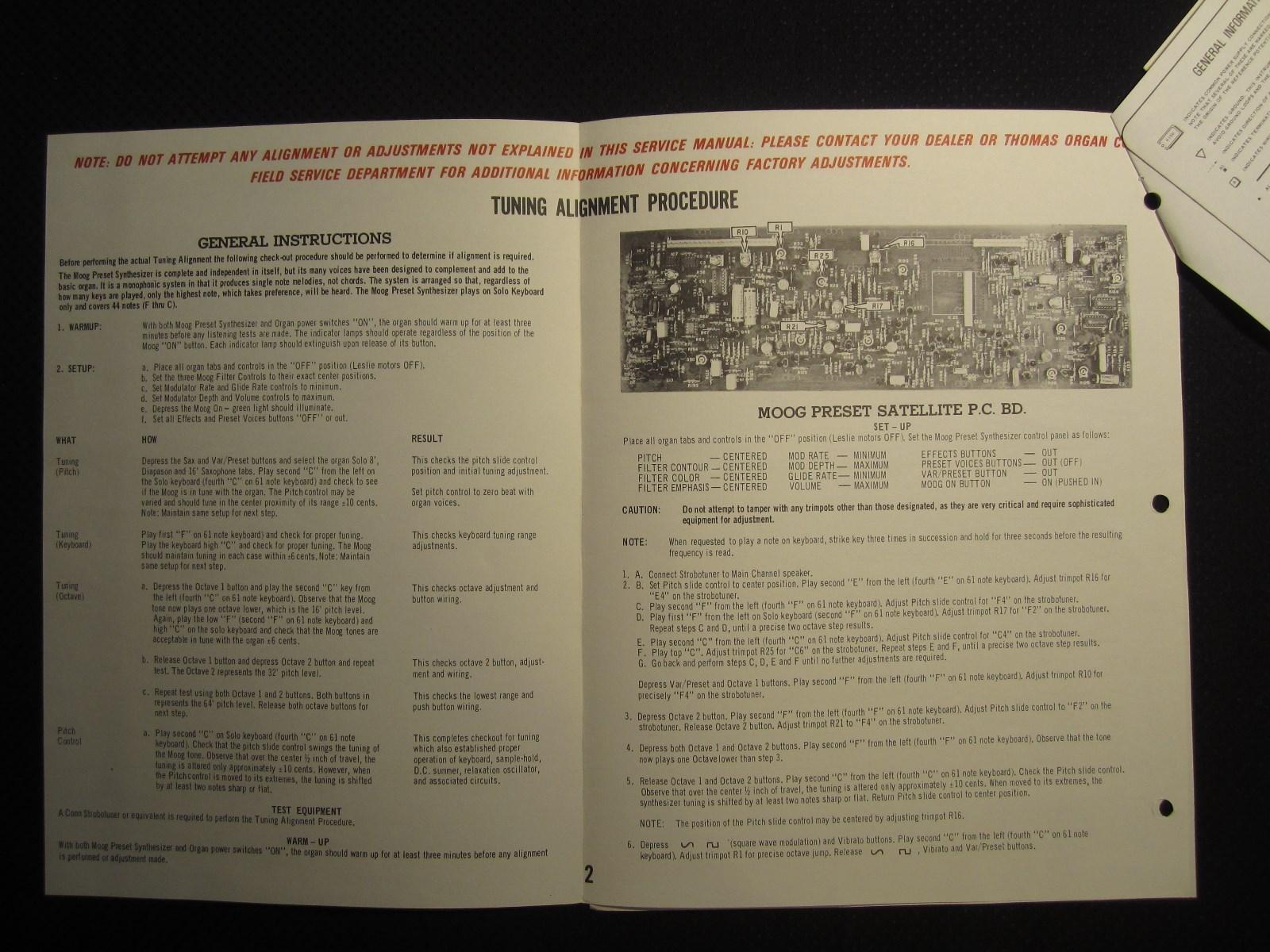 MATRIXSYNTH: Thomas Moog Preset Synthesizer 371 372 871