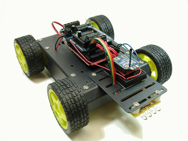 XBee-controlled 4WD Wireless Robot