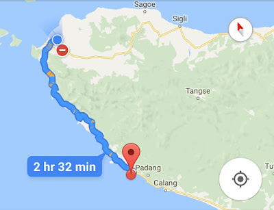 Peta Banda Aceh ke Pulau Keuh