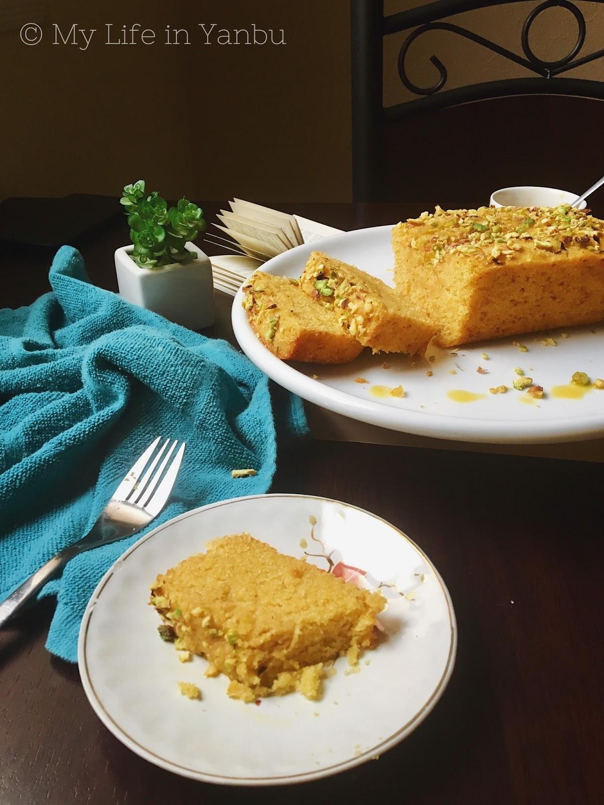 My Life in Yanbu!: Mango Semolina Eggless Cake